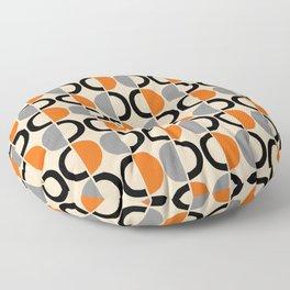 Mid Century Half Circle Pattern 121 Floor Pillow
