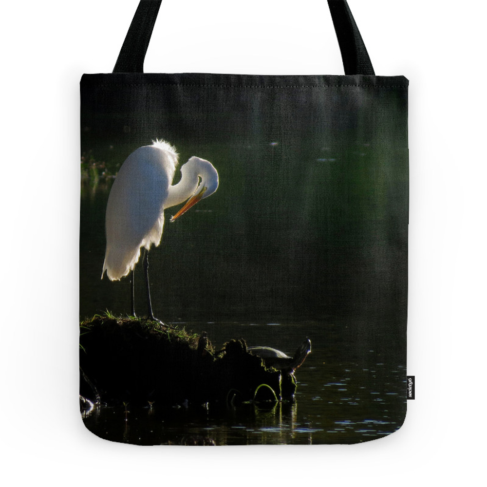 Egret at Evening Tote Purse by debsdigs (TBG764203) photo
