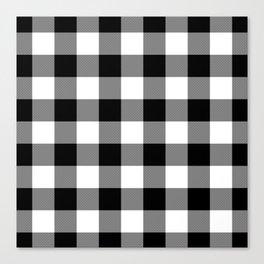 Gingham (Black/White) Canvas Print
