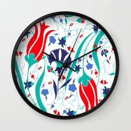 Iznik Wall Clock