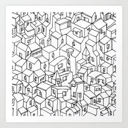 Endless City Art Print
