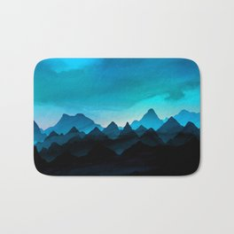 Night Storm In The Mountains Bath Mat
