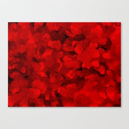 Rich Scarlet Red Gradient Abstract Canvas Print