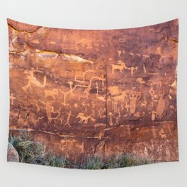 Ancient Rock Art Panel 0619 - Utah Wall Tapestry