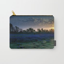 Texas Bluebonnets by the Pond at Sunrise Carry-All Pouch