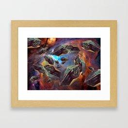 Turtle Asteroids Framed Art Print