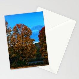 Autumn Moonset Stationery Cards