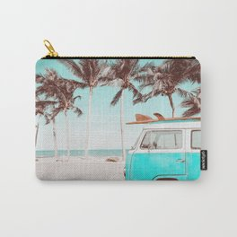 Retro Camper Van With Surf Board Carry-All Pouch