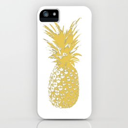 Gold pineapple iPhone Case