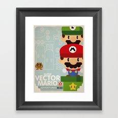 mario bros 2 fan art Framed Art Print