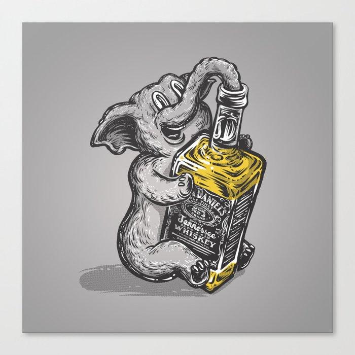 Drunk Elephant Canvas Print