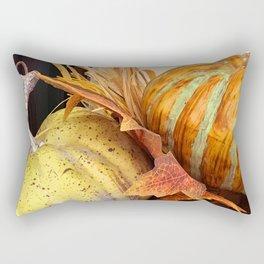 Autumn Artsy Harvest Pumpkins Fall Festival Photo Rectangular Pillow