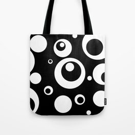 Circles Dots Bubbles :: Black Pepper Tote Bag