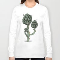 fairies Long Sleeve T-shirts featuring Artichoke Fairies  by Rene Robinson