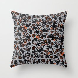 Halloween Cats  Throw Pillow