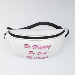Be happy Be out Be proud WLW Lipstick Lesbian Flag T-shirt Fanny Pack