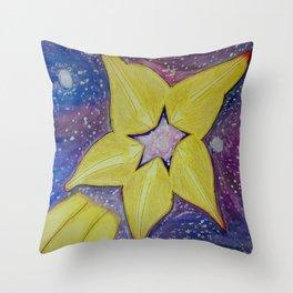 Shooting Starfruit Throw Pillow