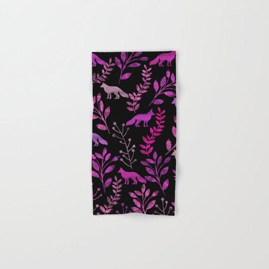 Watercolor Floral & Fox II Hand & Bath Towel