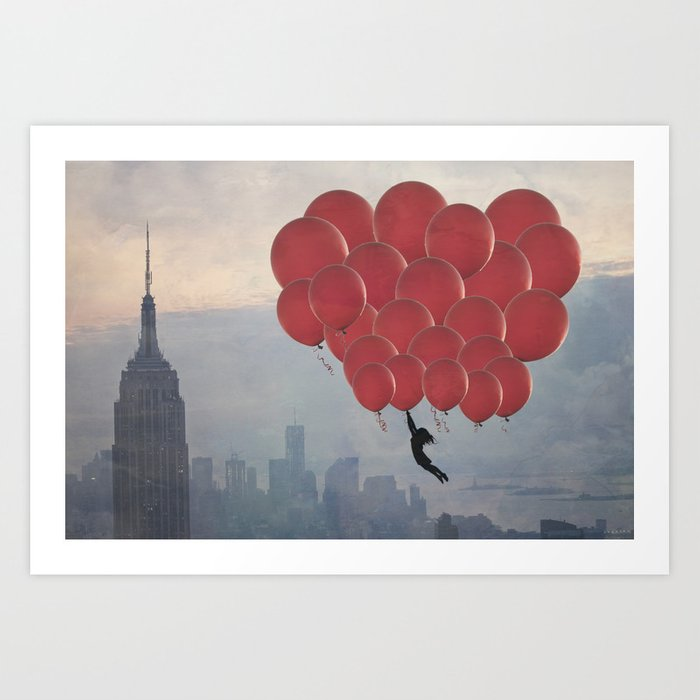 Floating over the City Art Print