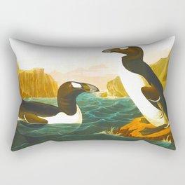 Great Auk John James Audubon Scientific Birds Of America Illustration Rectangular Pillow
