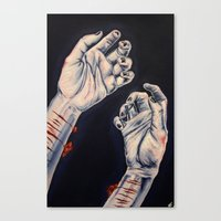 depression Canvas Prints featuring Depression by ObscuredPunk