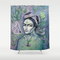 magical girl Shower Curtains featuring Magical Girl Frida by Brettisagirl