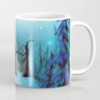coven Mugs featuring Witch Coven by Annya Kai