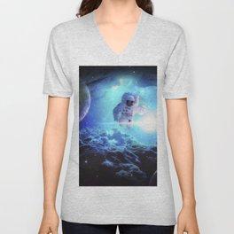 Underwater Astronaut Unisex V-Neck