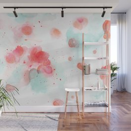 Abstract water lillies Wall Mural