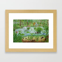 A Day of Forest (4). (the lake ecosystem) Framed Art Print