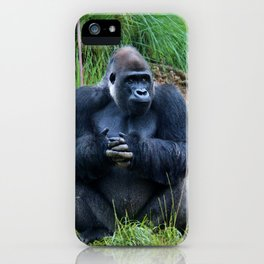 Gorilla Waiting For Lunch iPhone Case