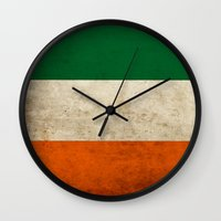 irish Wall Clocks featuring Irish by Jason Michael