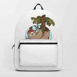 Cool funny saying Sloth is relaxing Sloths Design Backpack