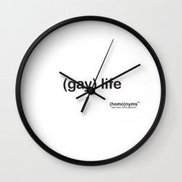 gay life Wall Clock