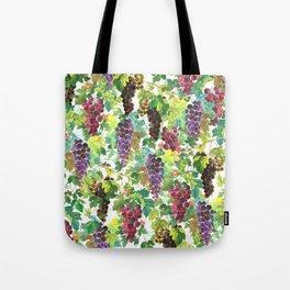 Wine Grapes In Watercolor Tote Bag