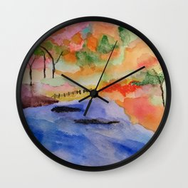 White River Fall Wall Clock