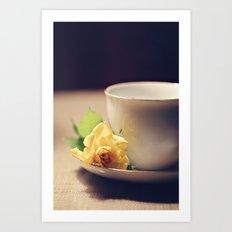 Tea Time and Roses Art Print