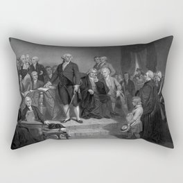 Washington Delivering His Inaugural Rectangular Pillow