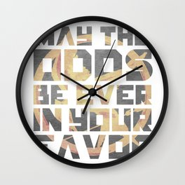 Hunger Games May the Odds Ever be in Your Favor Wall Clock