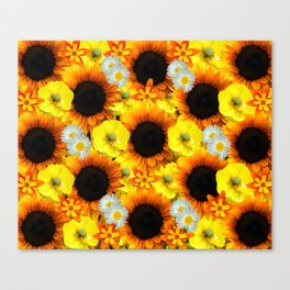 Sunflowers - Shades of yellow Canvas Print