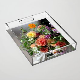 Flower Design 11 Acrylic Tray