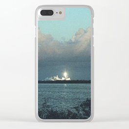 SpaceX at Dusk Clear iPhone Case