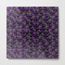 Tech Mosaic Purple Metal Print