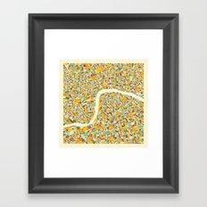 LONDON MAP Framed Art Print