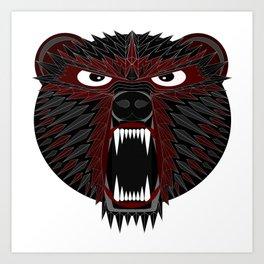 BT Bear Art Print