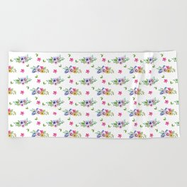 Tiny Flowers Ditsy Floral Beach Towel