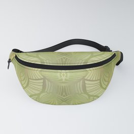 Paris Royal - Watercolor Art Deco Summer Green Fanny Pack