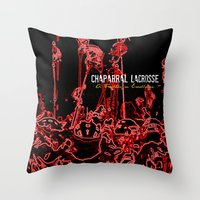 lacrosse Throw Pillows featuring Chaparral Lacrosse Stix by TMCdesigns