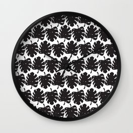 Leaf B&W Wall Clock