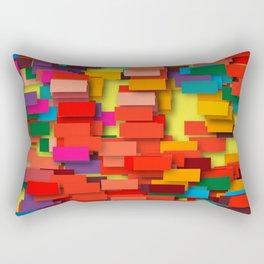colored bricks Rectangular Pillow